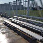 low-rise aluminum bleachers