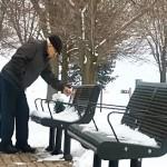 Memorial bench Bud Caldwell