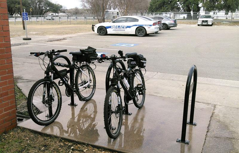 custom bike racks at police station