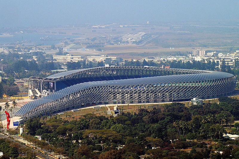 Kaohsiumg National Stadium with dragon-shaped design