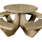 quick ship concrete picnic tables