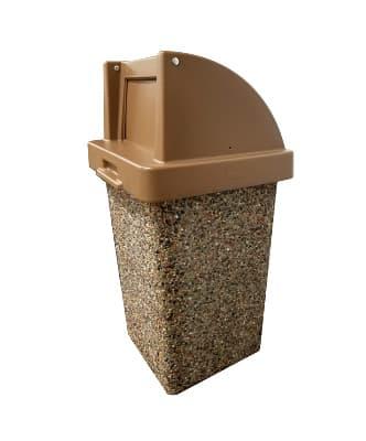 quick ship concrete trash receptacles