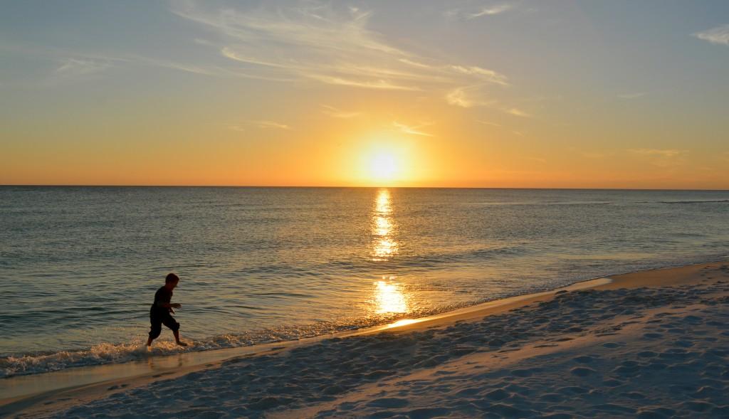 sunset on south walton beach