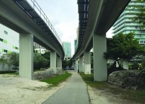 the underline park existing location near Brickell Station